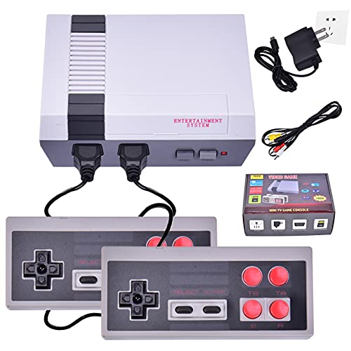 Ensunpals Classic Mini Retro Game Consoles Built-in 1000 Games Video Games,Childhood Game Consoles Dual Control 8-Bit Handheld Game Player Console Suitable (AV Out),Children Gift Happy Child Memories