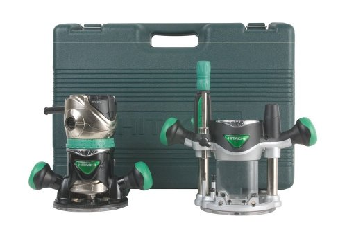 Hitachi KM12VCR 2-1/4 HP Variable Speed Plunge and Fixed Base Router Kit (Renewed)