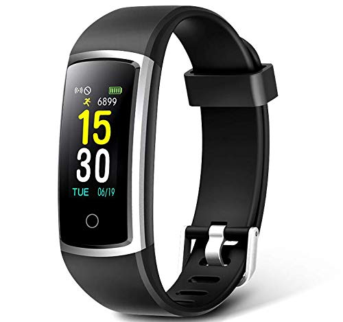 Fitness Tracker With Blood Pressure HR Monitor - 2019 Upgraded FITFORT Activity Tracker Watch With Heart Rate Color Monitor IP68 Pedometer Calorie Counter and 14 Sports Tracking for Women Kids Men