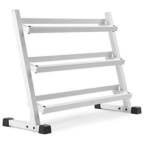 XMark Fitness XM-3107.1-WHITE Dumbbell Racks & Plate
