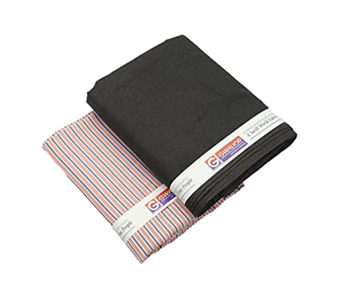 GWALIOR Unstitched Fabric Set/Cloth Piece for Trouser/Pants & Shirts Combo (1 Trouser & 1 Shirts) for Men/Man (Multi-M)