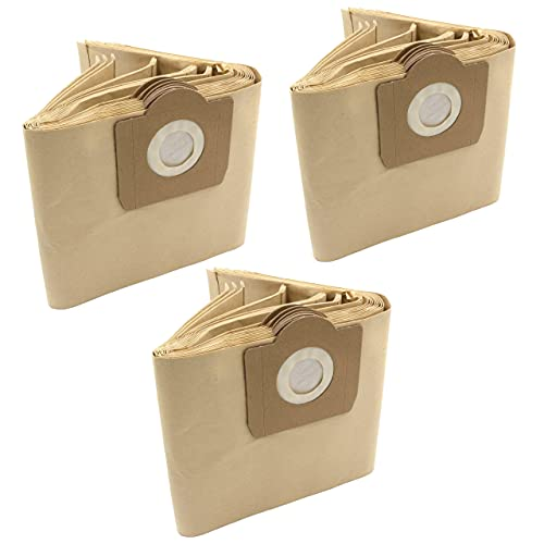 vhbw 30x bolsa compatible con Quigg NTS 1000 / NTS1000 aspiradora - papel, color arena