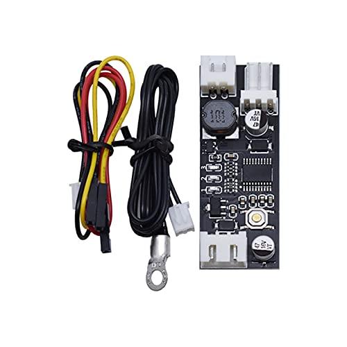 ZRYYD 12V 0.8A DC PWM 2-3 Einzeldraht-Lüfter-Temperatursteuerungsgeschwindigkeits-Controller-Chassis-Computer-Geräuschreduziermodul NTC B50K 3950