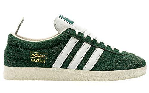 adidas Originals Gazelle Vintage, Collegiate Green-Footwear White-Off White, 12