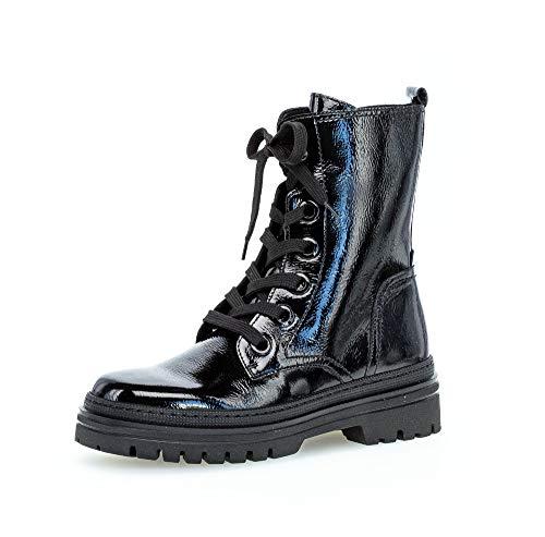 Gabor Damen Stiefeletten, Frauen Schnürstiefeletten,Wechselfußbett,Best Fitting, übergangsschuh Boot halb-Stiefel,schwarz,40.5 EU / 7 UK