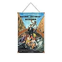 ジェームズボンド007フィルムシリーズセクシービューティーストッキング(2木製のリストプラーク木の看板ぶら下げ木製絵画パーソナライズされた広告ヴィンテージウォールサイン装飾ポスターアートサイン