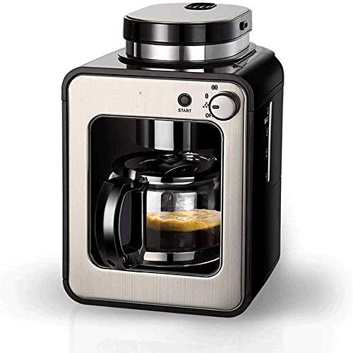 Máquinas de café a taza de la máquina automática capuchino máquina de café inteligente, máquina de café mini americana pequeña multifunción, con olla de café de cristal de 0.6 litros para.