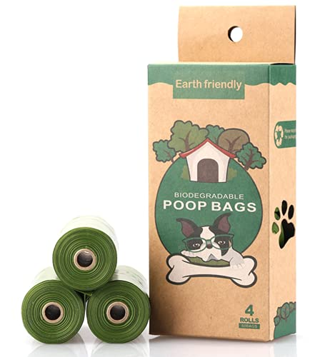 Biodegradable Dog Poop Bags   Compostable Dog Waste Bags   100% Plastic Free, Unscented,...