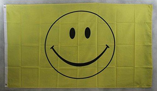 Flagge Fahne Smiley Smily 90x60 cm wetterfest und lichtecht für innen und aussen