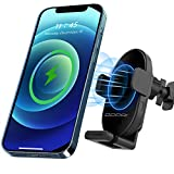 DDPAI Wireless Car Charger Mount R1S, 15W Qi Fast Charging, Auto-Clamping Car Charging Mount, Air Vent Dashboard Car Mount Windshield Phone Holder for Samsung,LG&Qi Enabled[2021 Upgraded]