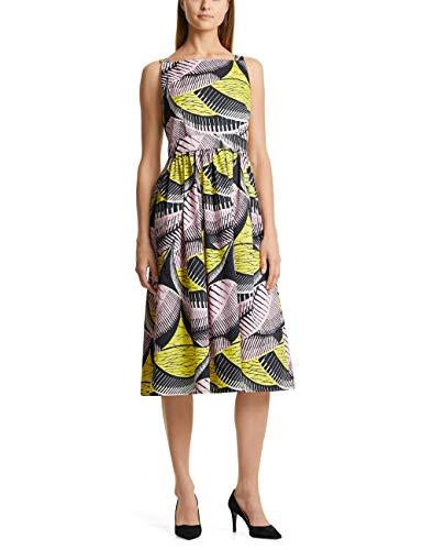 Marc Cain Collections Damen Casual Kleid, Mehrfarbig (Pink Lady 218), 46 (Herstellergröße: 7)