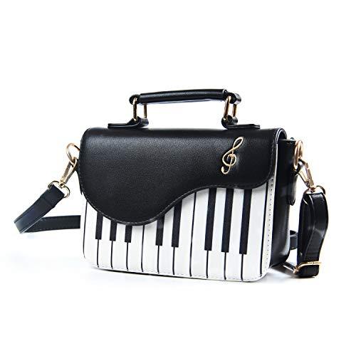 EVEOUT Damen stilvolle Klavier Muster Handtasche Schulter Geldbörse, Umhängetasche für Damen