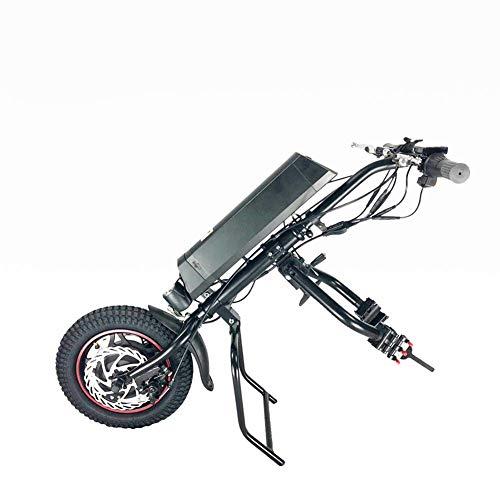 GMtes Silla de Ruedas eléctrica Adjunto handcycle Silla de Ruedas, Terapia de rehabilitación eléctrica Kit de conversión de Silla de Ruedas para Mayores Discapacidad,11.6Ah ✅
