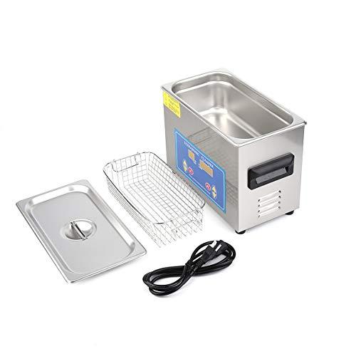4.5L Edelstahl Industrie erhitzt Ultraschall-Reiniger mit Heizung Timer mit In Transducer Errichtet für Schmuck Reinigung (Farbe: Silber)