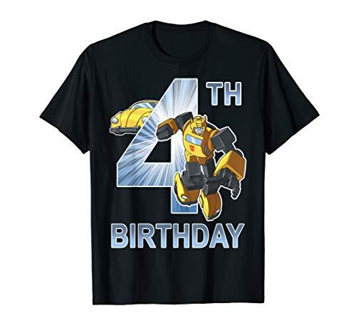 Transformers Bumblebee 4th Birthday T-Shirt
