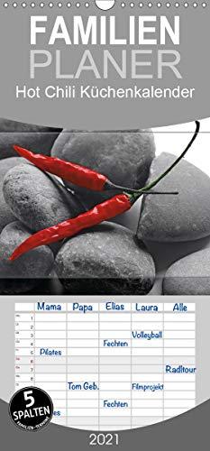Hot Chili Küchen Kalender - Familienplaner hoch (Wandkalender 2021, 21 cm x 45 cm, hoch)