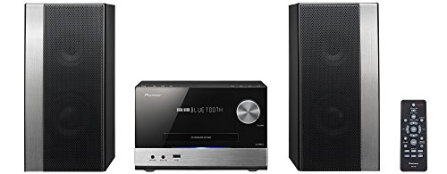 Pioneer X-PM12 - Microcadena (38 W, estéreo, Bluetooth, USB frontal), color plateado