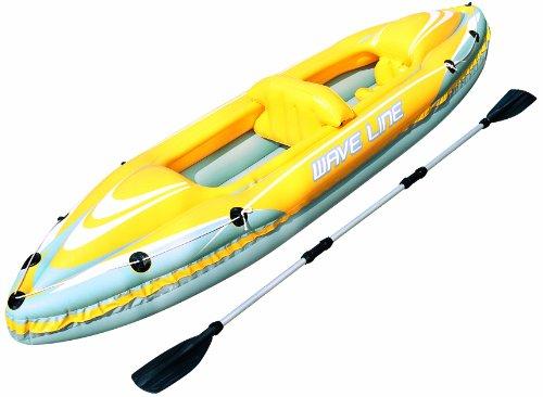Bestway 65020B Hydro Force Wave Line kajakset, rubberboot voor 1 volwassene en 1 kind, maximaal 160 kg, circa 357 x 77 cm