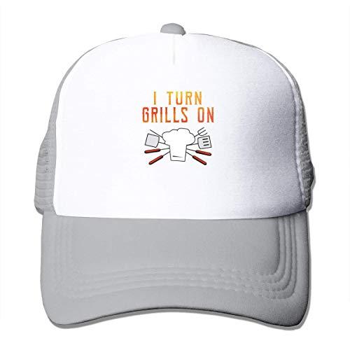 NA I Turn Grills Op Zomer Mesh Baseball Caps Verstelbare Trucker Hoed voor Unisex Grijs