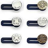 su 6 PCS Bottone Elastico,Retrattili in Metallo Bottoni ,Bottone Retrattile per Jeans,per Extender per Jeans & Pantaloni kynk-6