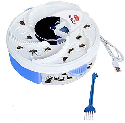 Yefun Dispositivo Automatico Trappola moschicida UV Elettrico Viola con Alimentazione per Trappola + Cavo USB + attrezzo per spazzole (Blue)