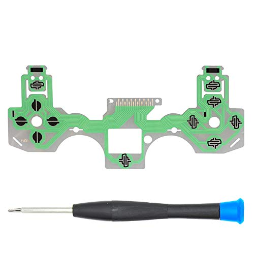 MMOBIEL Flex Ribbon Sostituzione della tastiera a pellicola conduttiva del nastro flessibile per il controller PlayStation PS4 Dualshock 4 JDS-030 Incl (+) cacciavite