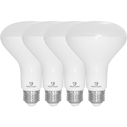 Great Eagle R30 or BR30 LED Bulb, 12W (100W equivalent), 1290 Lumens, Brighter Upgrade for 65W Bulb, 4000K Cool White Color, For Recessed Can Use, Wide Flood Light, Dimmable, and UL Listed (Pack of 4)