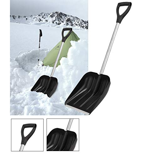 Check Out This 11 Wide Shovel Head Snow Scoop Shovel with Steel Shaft and Plastic Handle Lightweigh...