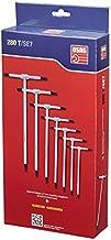 USAG 280 T/SE7 - Serie di 7 chiavi a T con maschio esagonale 280903P