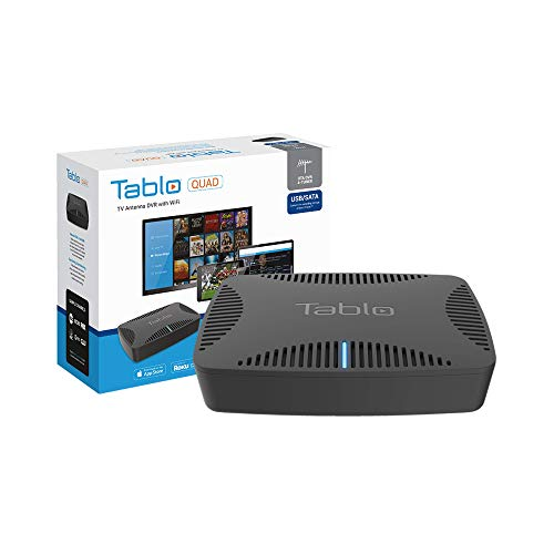 Tablo TQNS4B-01-CN Quad Over-The-air [OTA] Digital Video Recorder [DVR] for Cord Cutters - with WiFi, Live T   V Streaming,