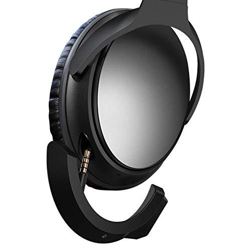 YOCOWOCO Drahtloser Bluetooth 5.0 Adapter für Bose QuietComfort QC25 Kopfhörer, aptX/MIC/Lautstärkeregelung,schwarz