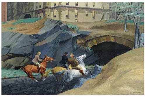 Vscdye Impresión Giclee de Edward Hopper en Lienzo: Pinturas Famosas, póster de Arte en HD, impresión en Lienzo, 60x120cm sin Marco