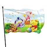 BHGYT Cartoon Anime Winnie The Pooh Flagge 3x5 FtDecorative Outdoors Anti UV Fading Innen Flaggen Saisonale und Holiday Yard Flag Banner Polyester 3x5 Fuß