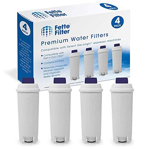 Somune wasserfilter für kaffeemaschinen delonghi de'longhi dlsc002 wasserfilter Filterpatrone Aktiv Kohle Weichspüler, Kompatibel mit Delongie ECAM, Esam, ETAM, BCO, EC. (4er Pack)