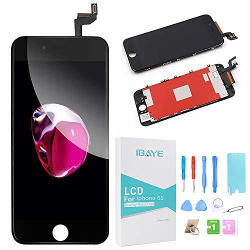Ibaye Display LCD Touch Screen Frame per iPhone 6S Nero Vetro Schermo Kit Smontaggio trasformazione Completo di Ricambio