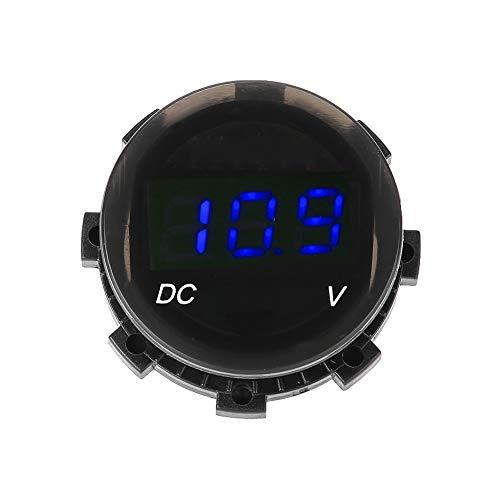 Yagosodee Voltímetro LED con pantalla digital de voltaje y calibre de panel para coche, moto, SUV, ATV, barco, modificado (azul)