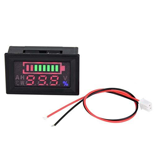 Liujaos Indicador de Voltaje de Pantalla Digital Estable, voltímetro de Pantalla LED Digital portátil, batería de automóvil eléctrica para batería de automóvil de batería ácida