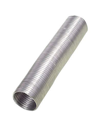 Wolfpack Tubo Aluminio Compacto Ø 250 mm, Ventilador Extractor, Tubo Campana, Ventilación Doméstica, Color Gris