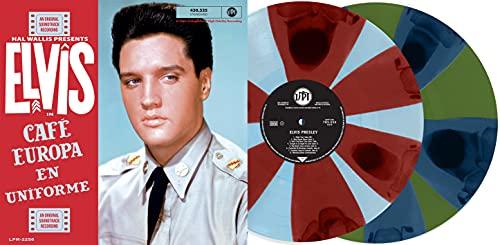 LP Elvis In Café Europa En Uniforme Limited Edition Colored