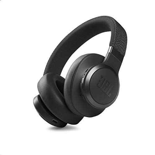 JBL Live 660NC - Wireless Over-Ear Noise Cancelling Headphones with Long Lasting Battery and Voice Assistant - Black