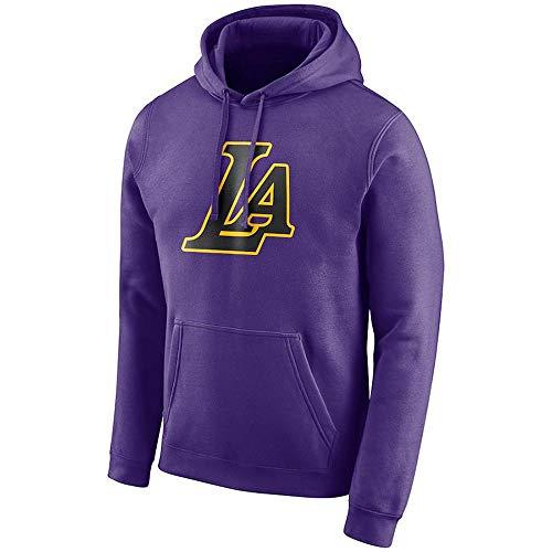 LHDDD NBA Maglione. Maglione Lakers James/Davis Nuovo Pullover con Cappuccio Razzo/Cestino Abbigliamento Online Purple-XXXL