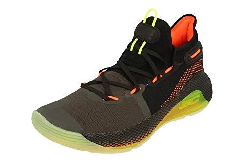 Under Armour UA Curry 6 Herren Basketball Trainers 3020612 Sneakers Schuhe (UK 10 US 11 EU 45, Black 004)
