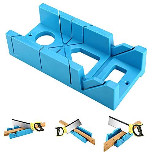 Yiyer Gehrungsbox aus Kunststoff Multifunktions-Gehrungsbox 45 ° -Lochschlitz für Holzarbeiter-Carver-Schreiner
