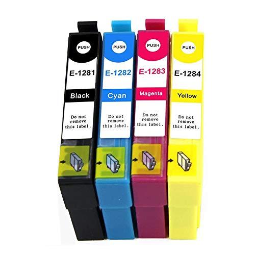 Befon 1281/1282/1283/1284 XL - Cartuchos de tinta para impresoras Epson Stylus S22, SX125, SX130, SX230, SX235W, Stylus Office BX305F, BX305FW, BX305FW