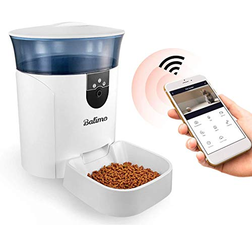 Balimo Automatic Pet Feeder Cat Feeder Auto Dog Feeder with Camera Cat...