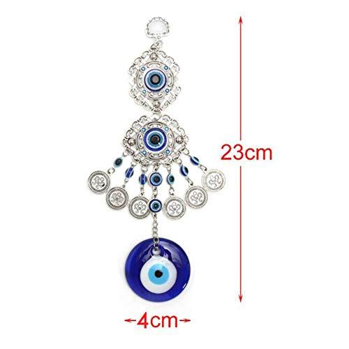 LASISZ Campanas de Viento Retro Turco Azul Mal de Ojos Amuleto Protecc