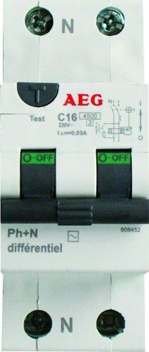 AEG AUN608452 - Interruptor diferencial (16 A, 30 mA, tipo CA)
