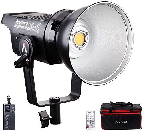 Aputure Light Storm LS COB C120d 2 120D Mark II Tageslicht-LED-Videolicht-Kit mit Bowens-Montage / V-Mount-Platte