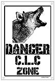 Danger Lobo checoslovaco zonas Placa cartel Metal cuidado con el Perro Metal Sign