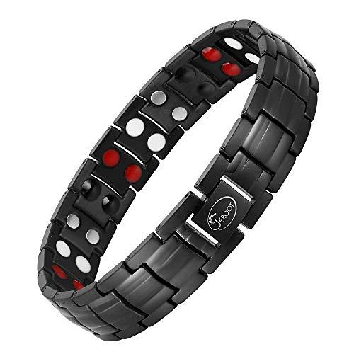 Jeroot Titan Magnetarmband,Herren Magnetische Armbänder für Arthritis Verschluss Armband Magnet Herren Gesundheit Magnetarmband Energetix (3500 Gauss)